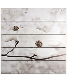 Serenity Blossoms Print on Wood
