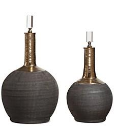 Arnav 2-Pc. Matte Black Bottle Set