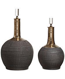 Uttermost Arnav 2-Pc. Matte Black Bottle Set
