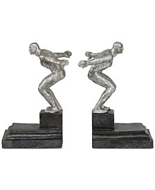 Uttermost Endurance 2-Pc. Silver-Finish Bookend Set