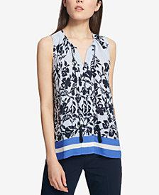 Tommy Hilfiger Printed Tassel-Tie Top
