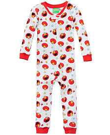 Sesame Street Elmo 1-Pc. Printed Cotton Pajamas, Toddler Boys