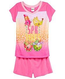 Shopkins 2-Pc. Graphic-Print Pajama Set, Little Girls & Big Girls