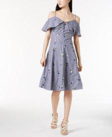 Calvin Klein Cotton Cold-Shoulder Dress
