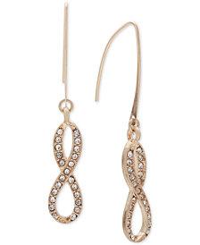 lonna & lilly Gold-Tone Pavé Infinity Threader Earrings