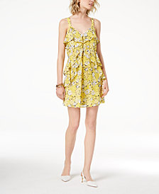 MICHAEL Michael Kors Ruffled Floral-Print Dress,a Macy's Exclusive Style