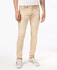 GUESS Men's Skinny Fit Stretch Moto Jeans