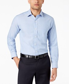 Club Room Men's Reg-Fit Pinpoint Solid Dress Shirt, Created for Macy's
