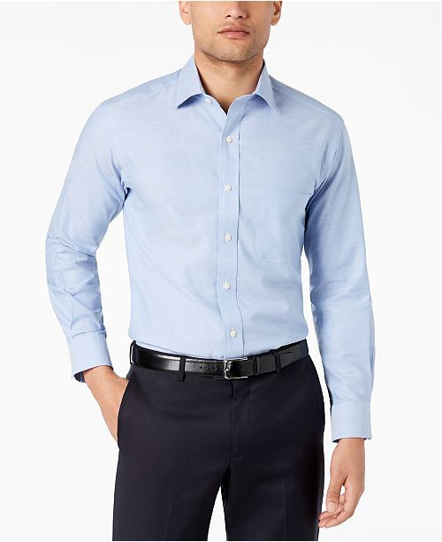 Club Room Men's Slim-Fit Pinpoint Solid Dress Shirt, Created for Macy's