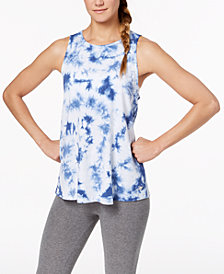 Calvin Klein Performance Tie-Dyed Keyhole-Back Tank Top