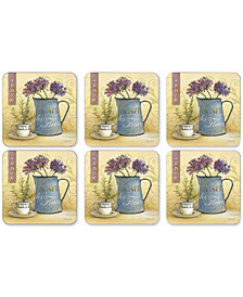 Pimpernel Café de Fleurs Coasters, Set of 6