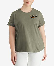 Lauren Ralph Lauren Plus Size Bullion-Patch T-Shirt