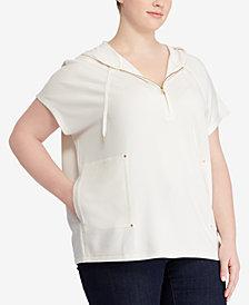 Lauren Ralph Lauren Plus Size Hooded Dolman-Sleeve Top