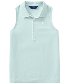 Polo Ralph Lauren Racerback Polo Shirt, Little Girls