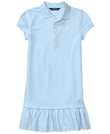 Polo Ralph Lauren Stretch Polo Dress, Big Girls