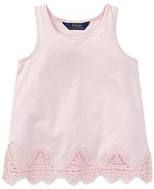 Polo Ralph Lauren Lace-Trim Tank Top, Little Girls