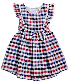 Sweet Heart Rose Multi-Color Checked Dress, Little Girls