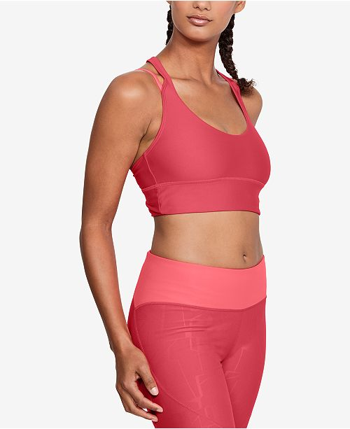 ab78716457031 ... Under Armour HeatGear reg  Long-Line Strappy-Back Low-Impact Sports ...