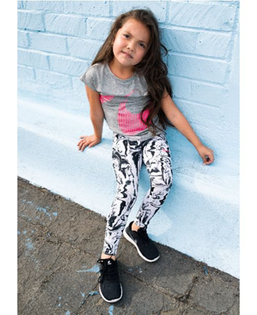 afa5907fe Nike Dri-FIT Sports Essential Printed Leggings, Little Girls ...