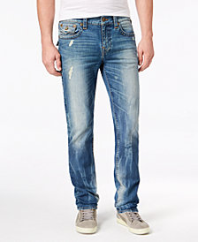 True Religion Men's Slim-Fit Ripped Stretch Jeans