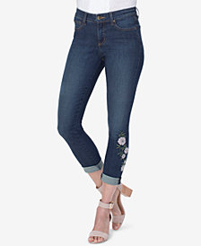 NYDJ Alina Embroidered Tummy-Control Skinny Jeans