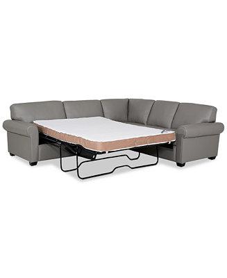 Furniture Orid 2 Pc Leather L Shaped, L Shaped Sleeper Sofa