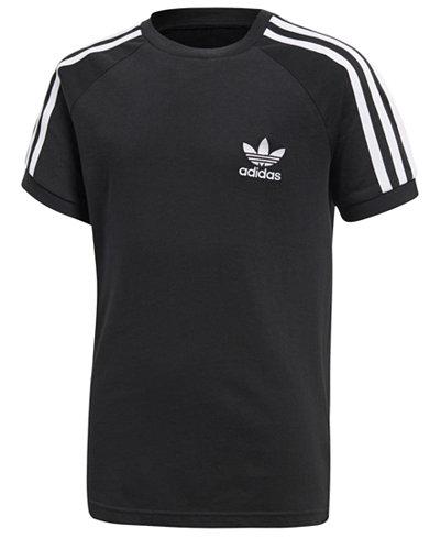 adidas Originals Logo-Print Cotton T-Shirt, Big Boys