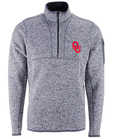 Antigua Men's Oklahoma Sooners Fortune Quarter-Zip Pullover