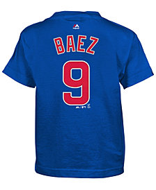 Majestic Javier Baez Chicago Cubs Official Player T-Shirt, Little Boys (4-7)
