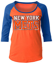 5th & Ocean Women's New York Mets Plus Raglan T-shirt