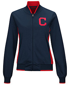 G-III Sports Women's Cleveland Indians Triple Track Jacket
