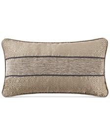 "Carrick Reversible 11"" x 20"" Damask Breakfast Decorative Pillow"