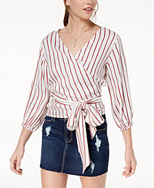 Polly & Esther Juniors' Printed Surplice Wrap Top