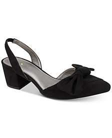 Seven Dials Harr Slingback Block-Heel Pointed-Toe Pumps