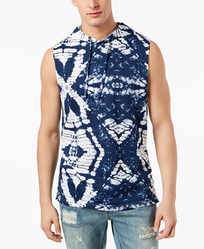 American Rag Men's Tie Dye Hooded Tank, Created for Macy's