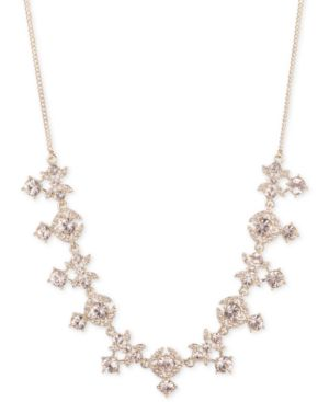 """Crystal 16"""" Collar Necklace in Gold"""