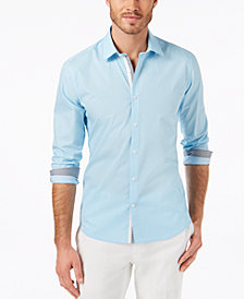 Ryan Seacrest Distinction™ Men's Slim-Fit Tile-Print Sport Shirt, Created for Macy's