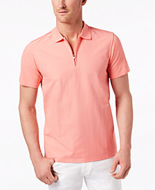Ryan Seacrest Men's Slim Fit Zip-Up Polo