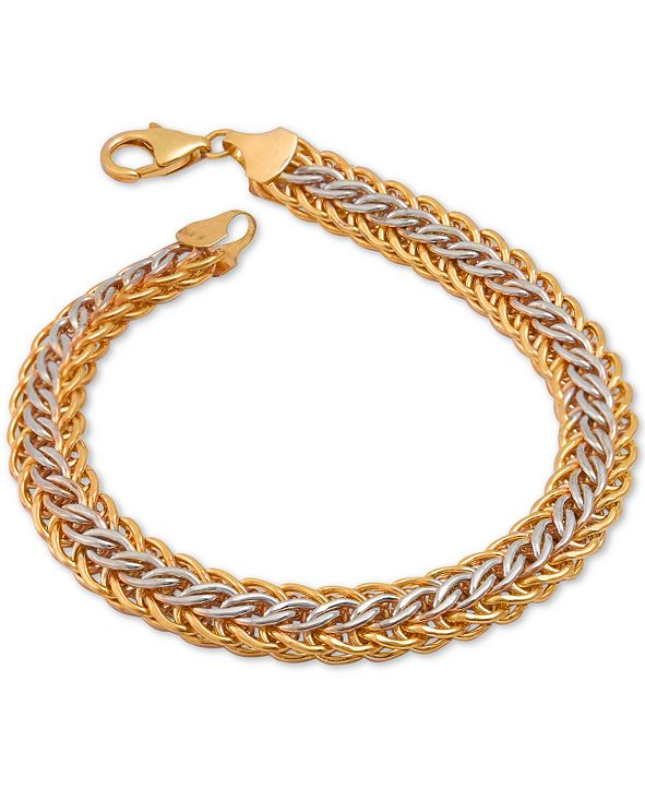 Macy's Mesh Bracelet in 14k Gold Over Sterling Silver and Sterling Silver