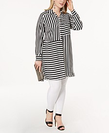 INC Plus Size Striped Tunic, Created for Macy's