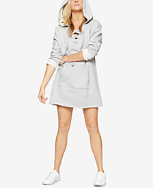Sanctuary Cotton Lace-Up Sweatshirt Tunic