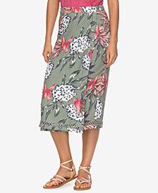 Roxy Juniors' Midi Wrap Skirt
