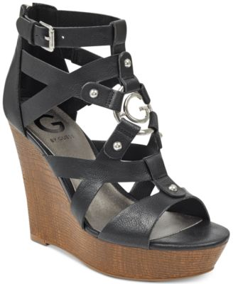 2ddb4bc9942 G by GUESS Dodge Platform Wedge Sandals   Reviews - Sandals   Flip Flops -  Shoes - Macy s
