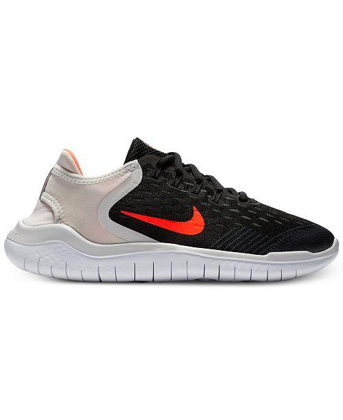 super popular 46f9b d45c5 Nike Big Boys  Free RN 2018 Running Sneakers from Finish ...