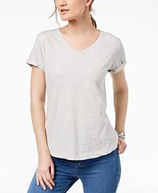 Petite V-Neck Pocket T-Shirt, Created for Macy's
