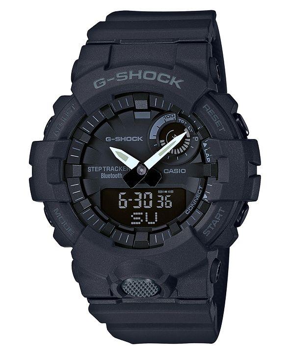 G-Shock Men's Analog-Digital Black Resin Strap Step Tracker Watch 48.6mm