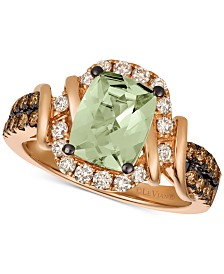 Le Vian Chocolate & Nude™ Mint Julep Quartz™ (1-3/4 ct. t.w.) & Diamond (5/8 ct. t.w.) Ring in 14k Rose Gold