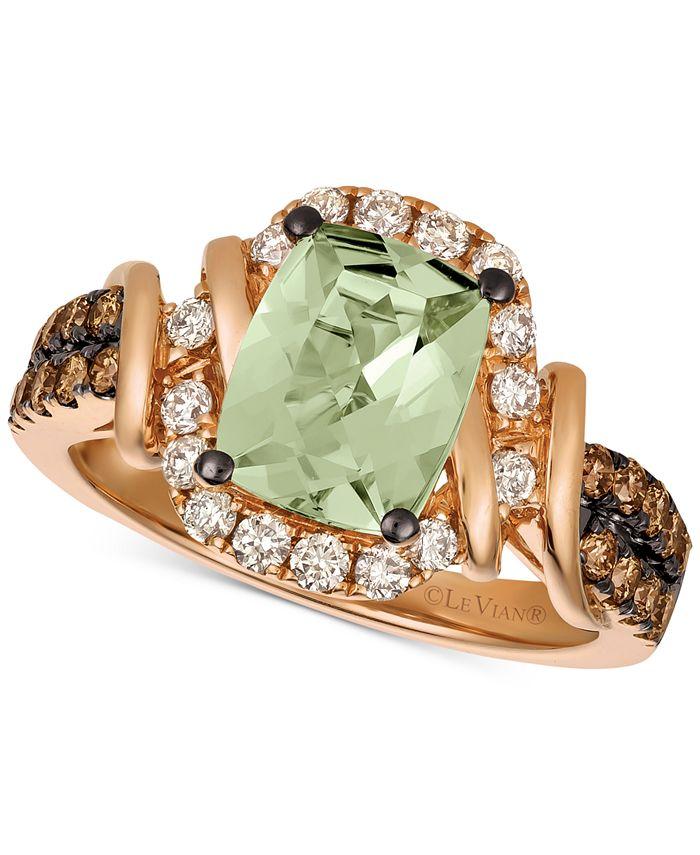Le Vian - Mint Julep Quartz™ (1-3/4 ct. t.w.) & Diamond (5/8 ct. t.w.) Ring in 14k Rose Gold