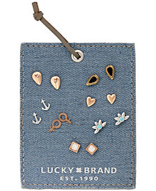 Lucky Brand Two-Tone 7-Pc. Set Stud Earrings, Created for Macy's