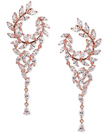 Nina Crystal Hoop Chandelier Earrings